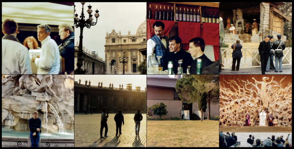 A grid of photos from the early days of my Rome semester.
